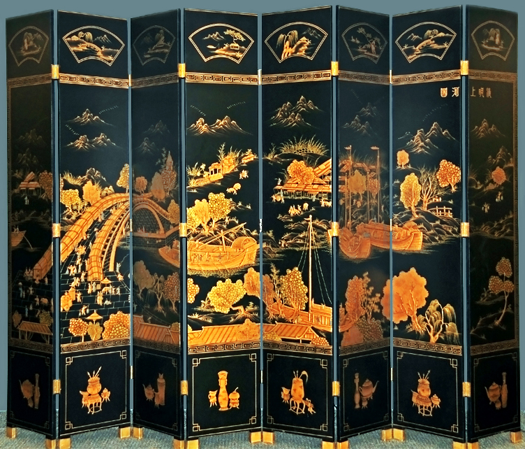 Chinese Storytelling Screen by unknown artist