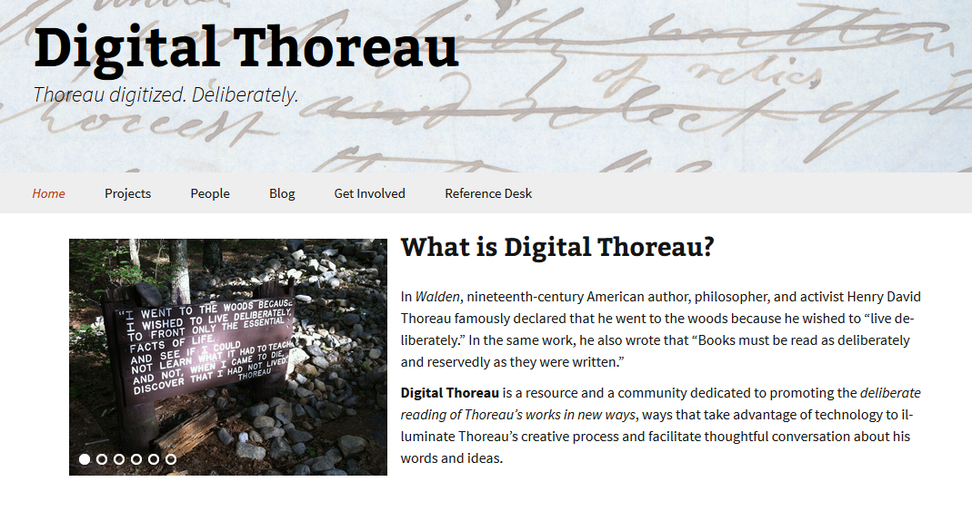 Digital Thoreau