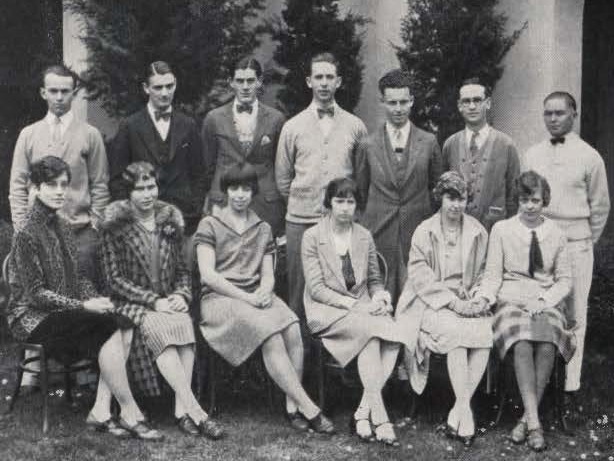 Student Body and Board of Control 1927