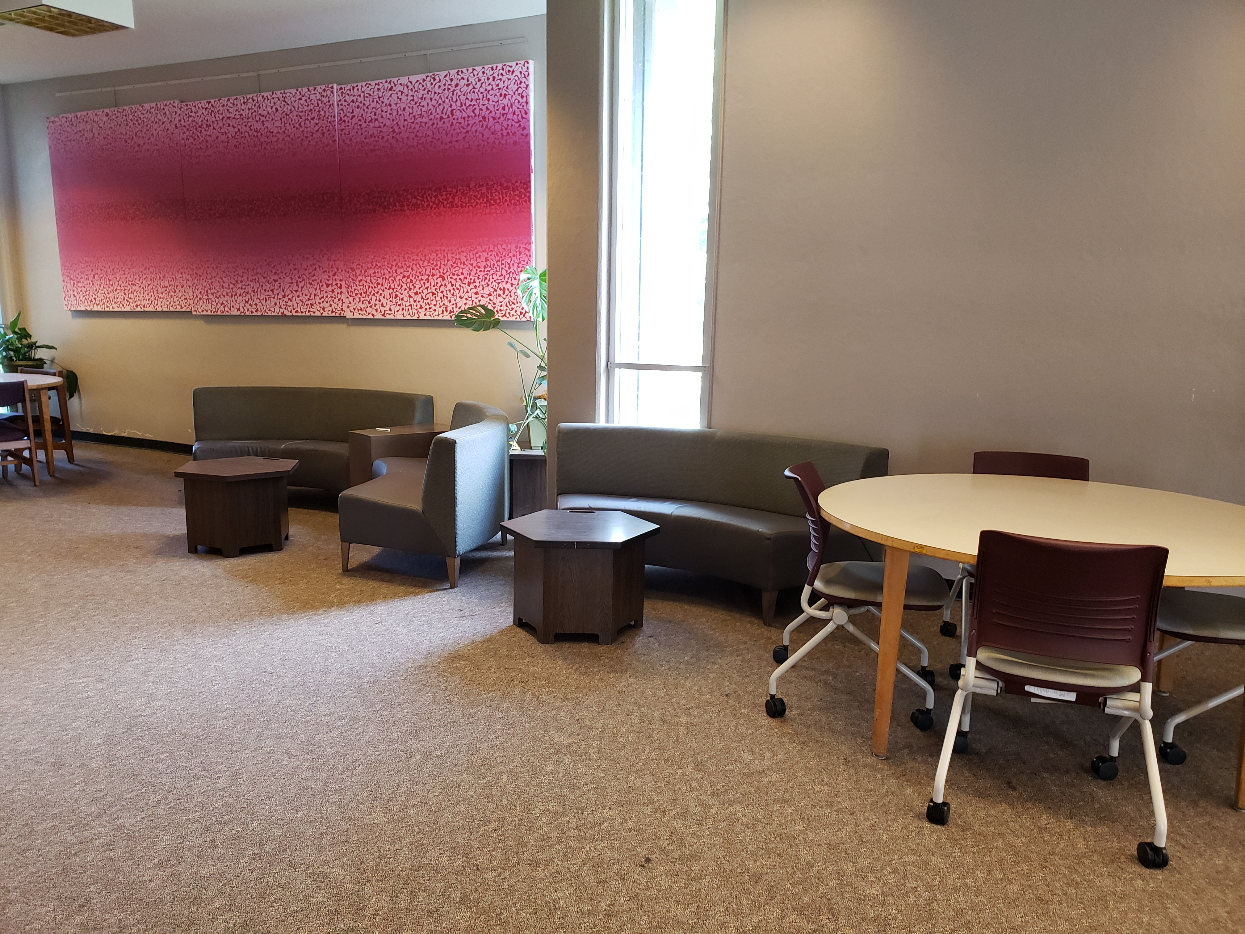 tables and couches for groups
