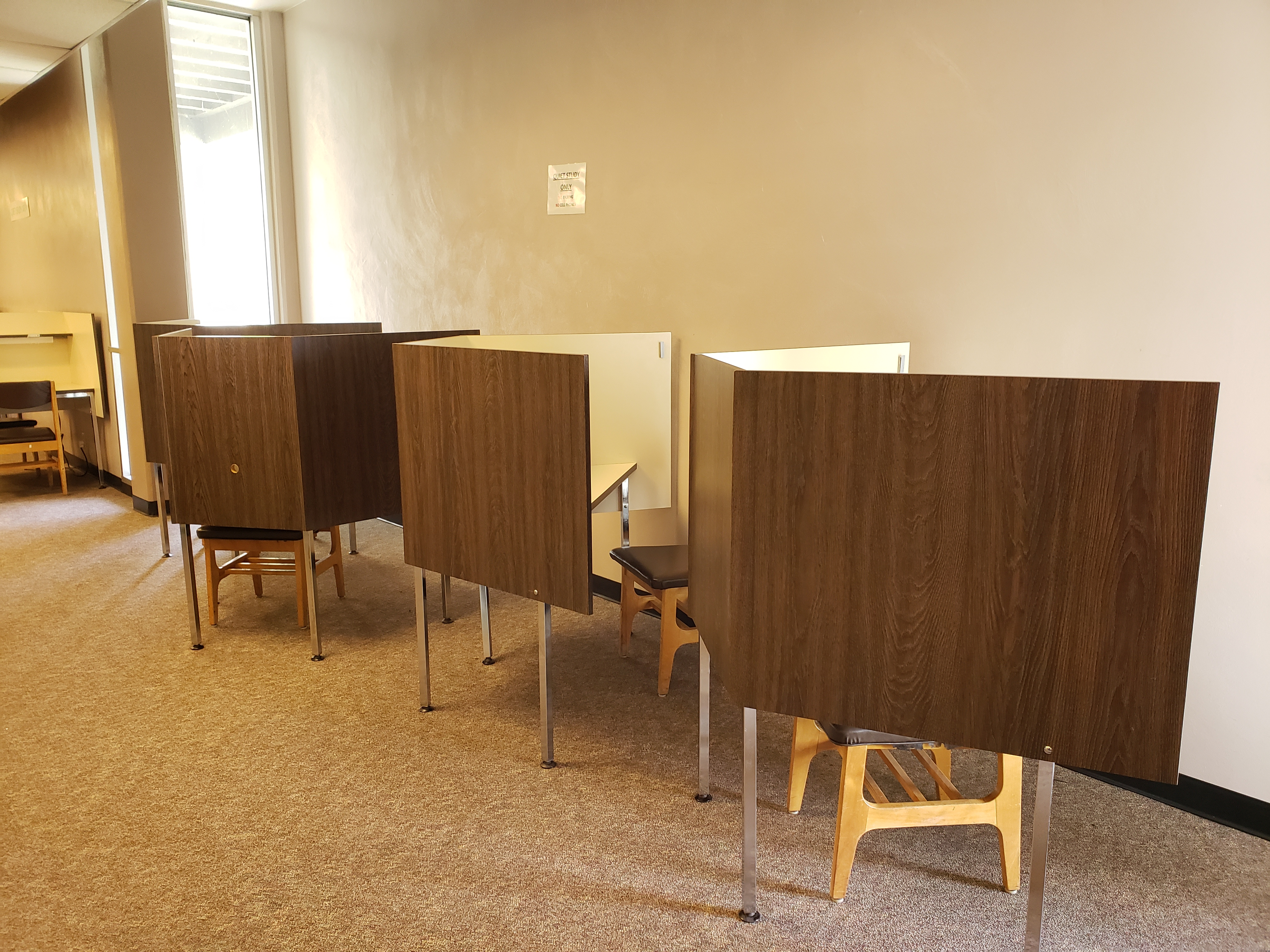individual study carrels in quiet area