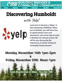flyer image for Discovering Humboldt with Yelp