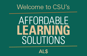 Welcome to the CSU's Affordable Learning Solutions AL$