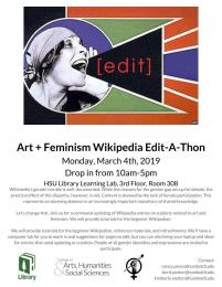 flyer for Wikipedia edit a thon