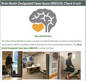 Brain Booth Designated Open Space Drop-in Hours