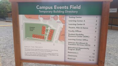 Campus Events Field Temporary Building Directory