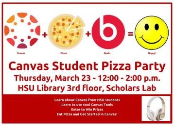 Canvas Student Pizza Party