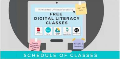 Free Digital Literacy classes offered by HSU Library and the County Library