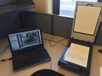 photo of laptop and scanner