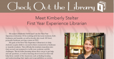 Check Out the Library - Meet Kimberly Stelter First Year Experience Librarian