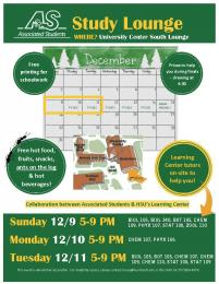 AS/Learning Center Study Lounge Opens Sunday