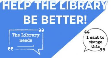 Help the Library be Better banner