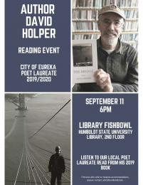 Author David Holper Reading Event September 11 6pm Library Fishbowl