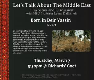 Let's talk about the Middle East