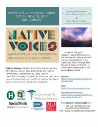 flyer for Native Voices traveling exhibit