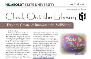 image of top of Fall 2018 Library Newsletter