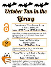 October Fun in the Library