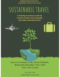 flyer for Sustainable Travel Workshop