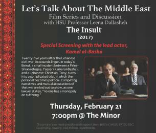 flyer for The Insult movie