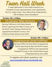flyer for town halls