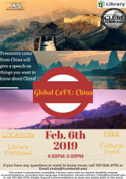 flyer for global cafe China