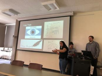 photo of students presenting
