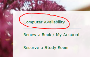 Computer Availability link on homepage