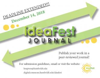 Deadline Extended December 14, 2018 ideaFest Journal flyer
