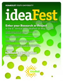poster for entering your project for ideaFest