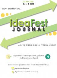 flyer for publishing in the ideaFest Journal