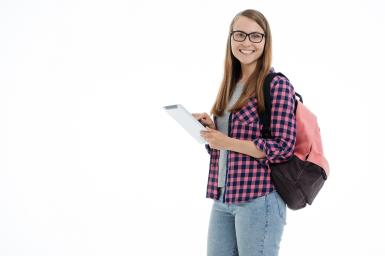 image of student carrying tablet - Image by Anastasia Gepp from Pixabay