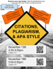 Citations, Plagiarism and APA Style Workshop