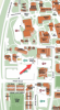campus map showing parking kiosk