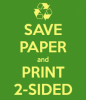 Save paper and print 2-sided